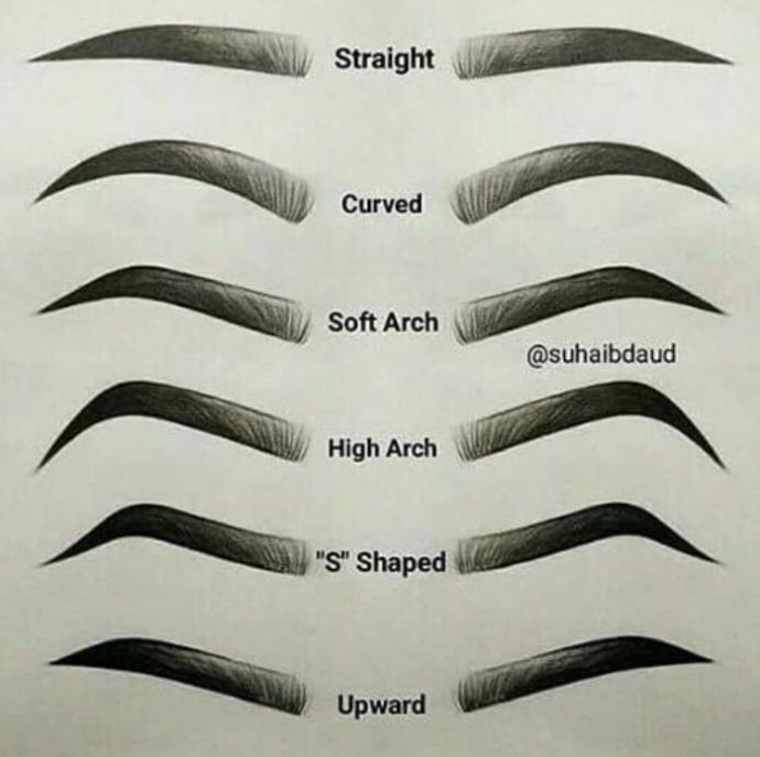 Which eyebrow shape??
