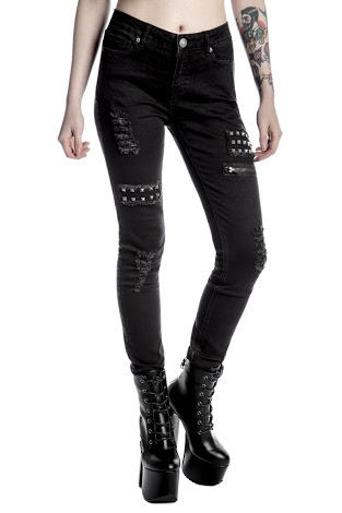 Do you like these Studded jeans with pentagram detailing ?