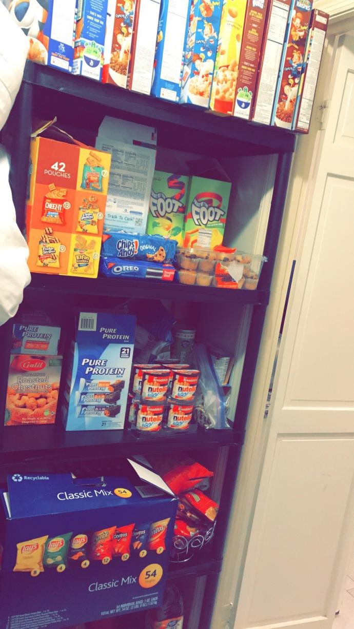 Could you resist a snack closet like the one in my house & this is only half of it ?