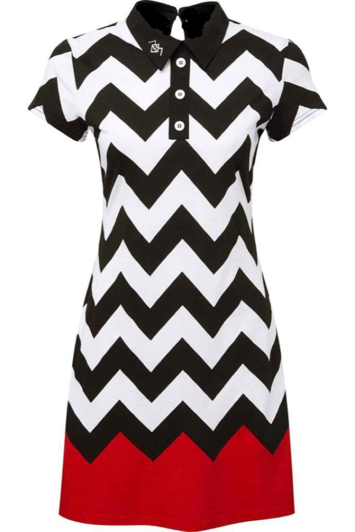 DO you like this chevron printed/ red dress?