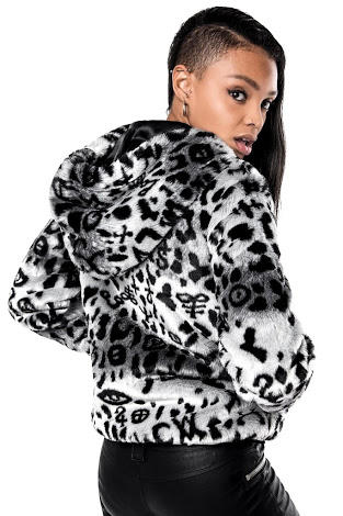 Do you like this 100% mink fur jacket with symbolic detailing?