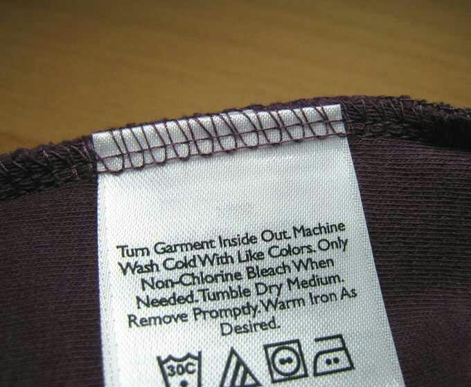 Tags on underwear?