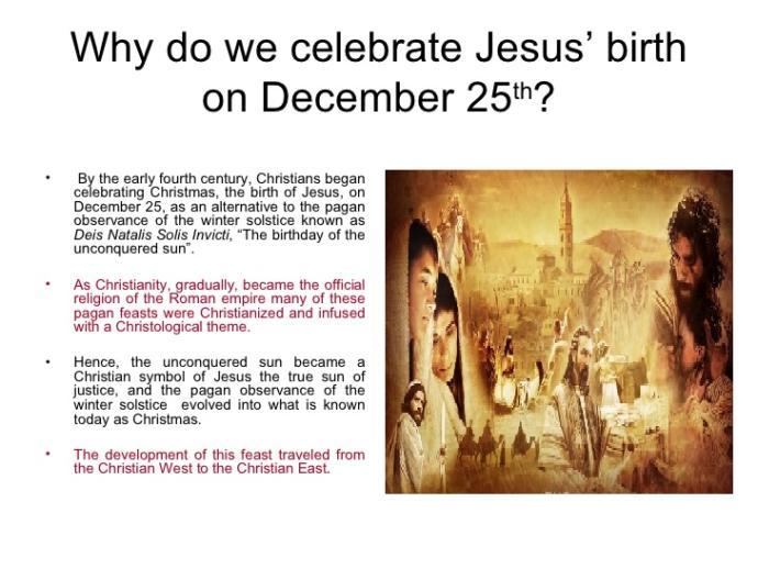 Why do Christians celebrate Jesus' birth on December 25th? - GirlsAskGuys