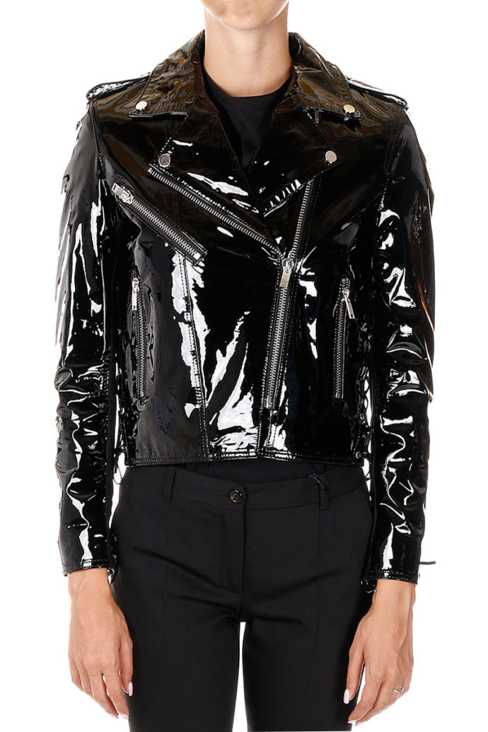 Would you ever wear a shiny patent leather jacket?