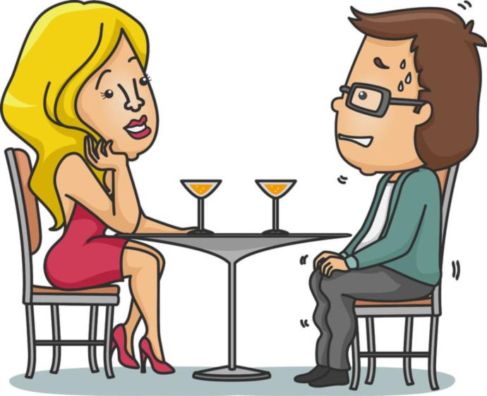 Are you ever yourself on a first date?