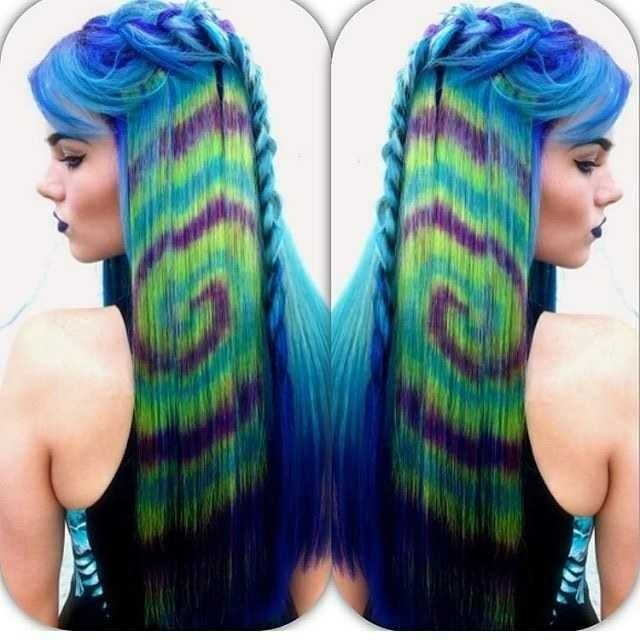 If you could dye your hair colorfully, how would you like it to look??