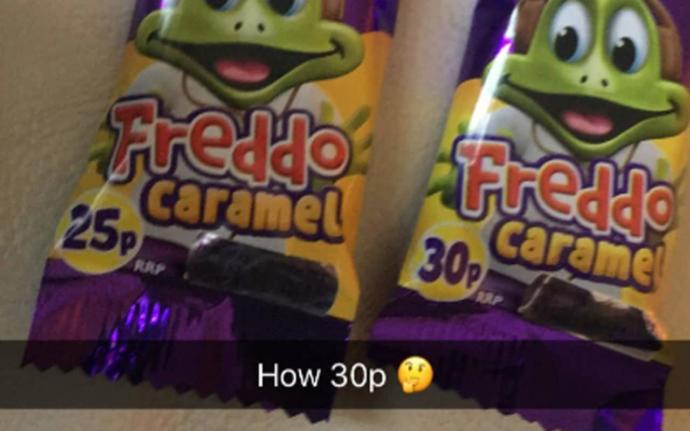 How do you feel about the price of freddos going up?