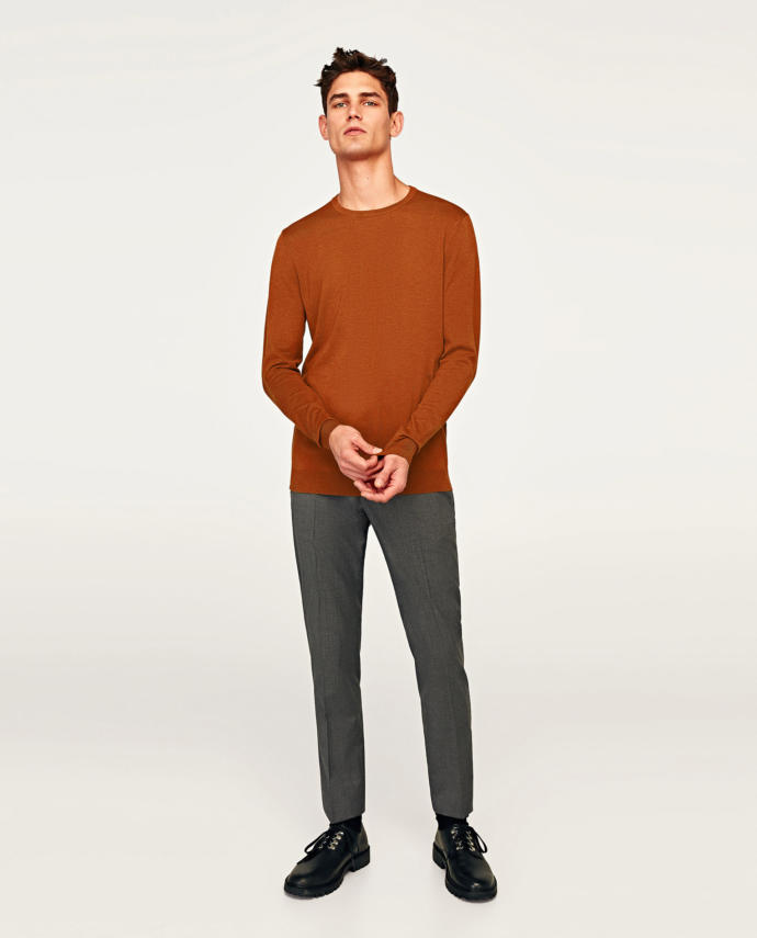 crew neck camel or turtle neck dark gray?