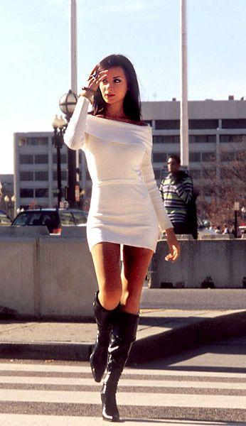 Is it hot when girls wear short skirts with long boots?