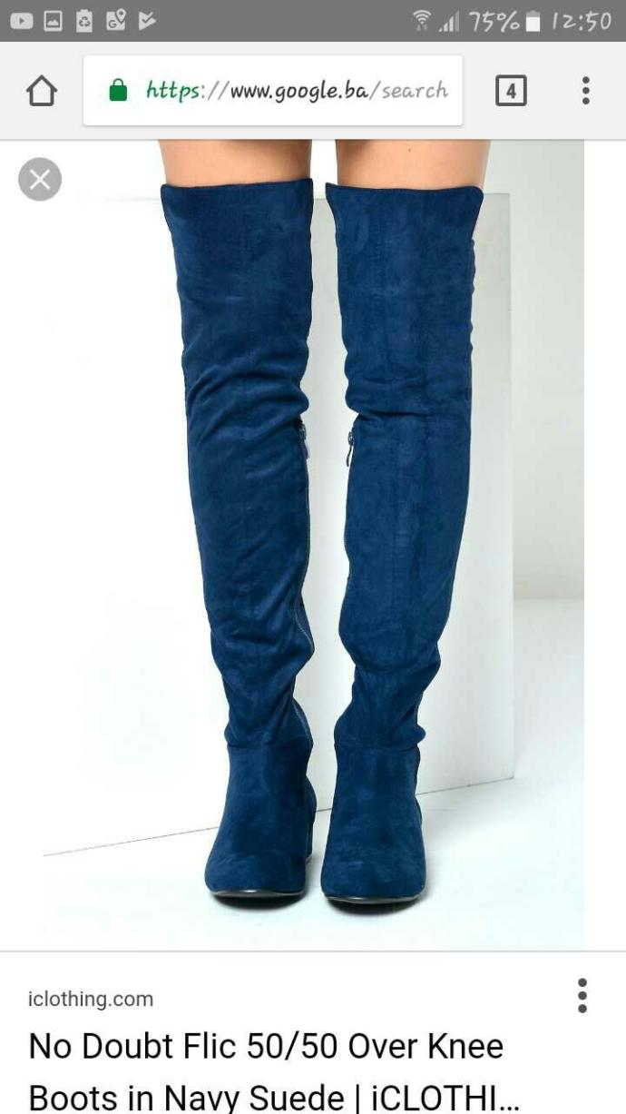 Do you like these over-the-knee blue boots??
