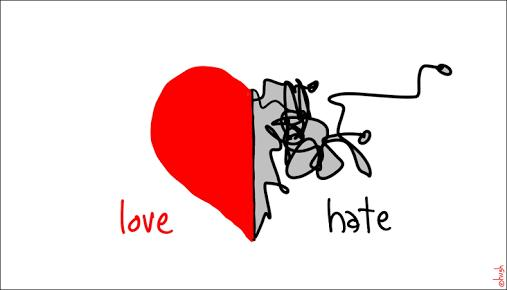 It's an awful feeling to love someone so much that you absolutely hate them for leaving you. Even before they've gone?