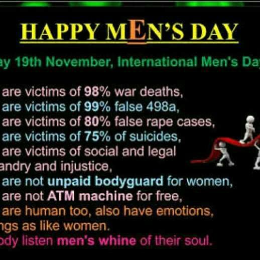 Why Women feel Men's days is useless??
