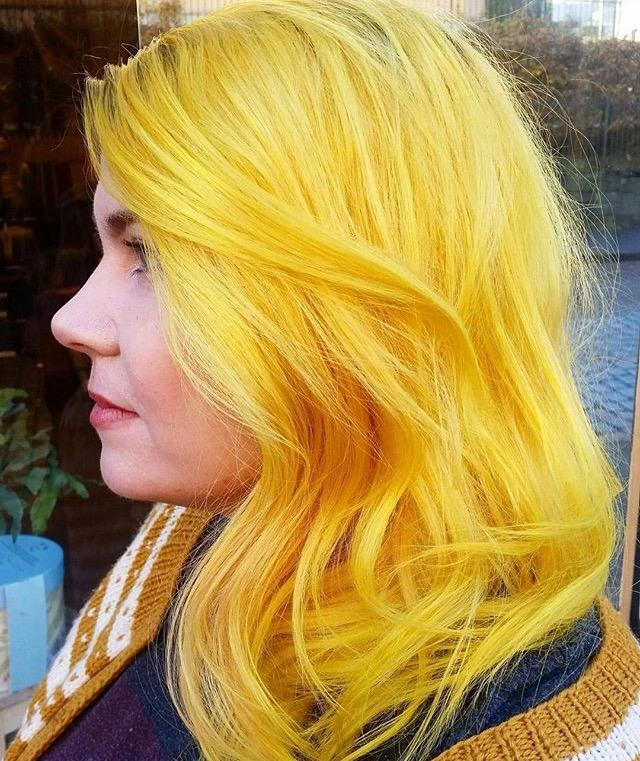 What do you think about yellow hair as a new trend?