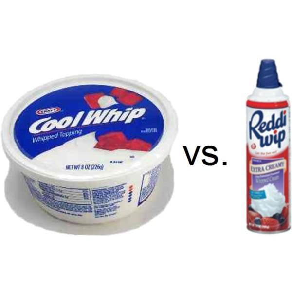 Which whipped topping do you prefer?
