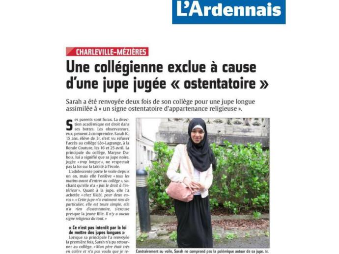 French school kicks Muslim girl out of class because her skirt's too long and provocative? Seriously? Your Thoughts on this?