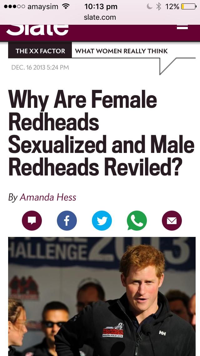 Girls, Do any females have a preference for red head men when it comes to dating ?