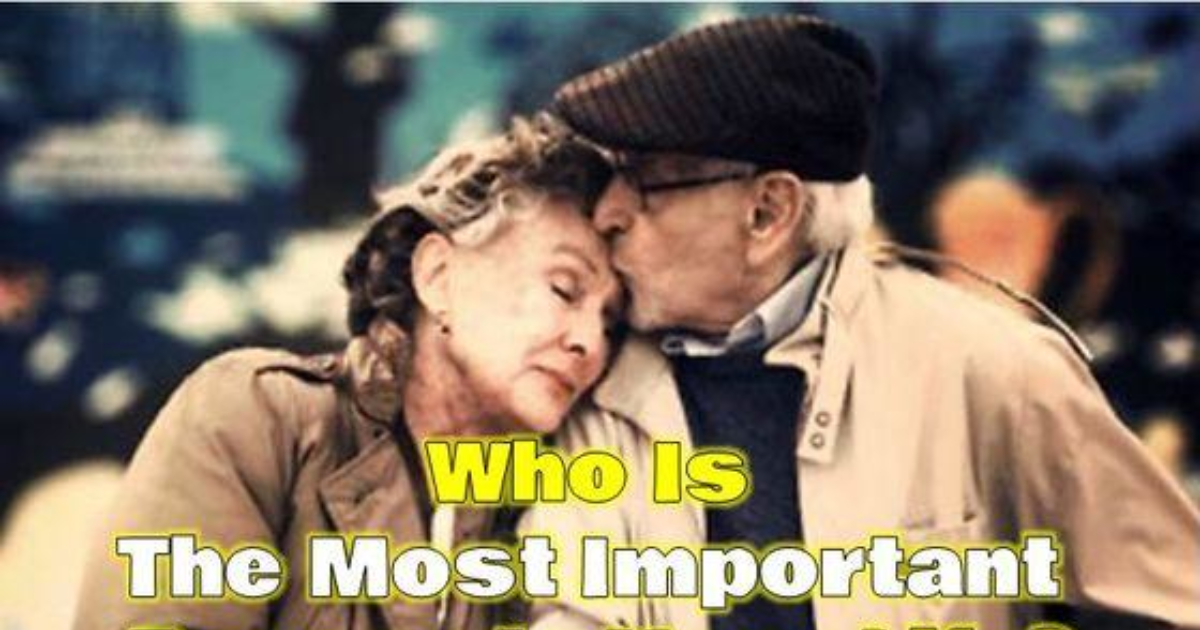 most important person in your life If you make yourself the most important person in your world, then you will most likely be able to make those you love the most important people in your life we.