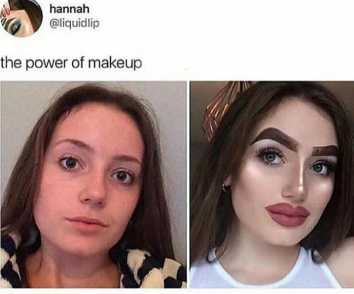 If this woman said that she used makeup for herself, not for men, then is it okay for a guy to not want to date her for her looks?