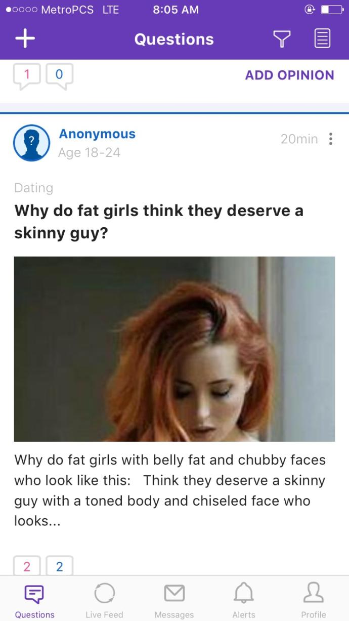 Do skinny guys like fat girls?