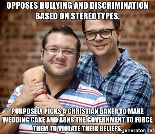 Should Christian bakers be persecuted due to their religious beliefs for refusing to offer the service of baking gay wedding cakes?