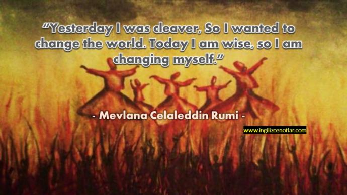 What do you know about Mevlana Celaleddin Rumi?