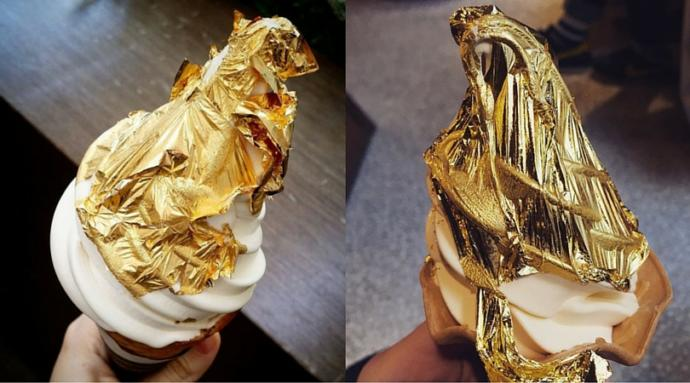 Would you eat food that has gold in/on it?
