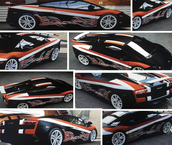 Based off the poll, Which colors/names go best with this Lambo Gallardo i customized?