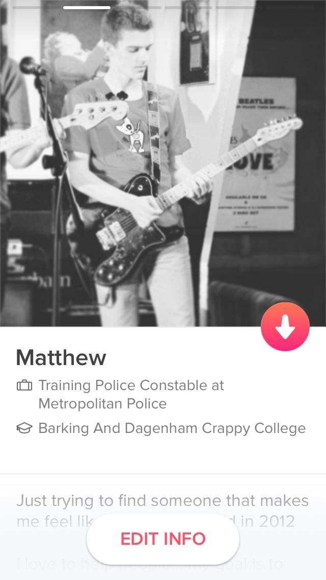 I get no matches on tinder, basicaly girls is my profile s***?