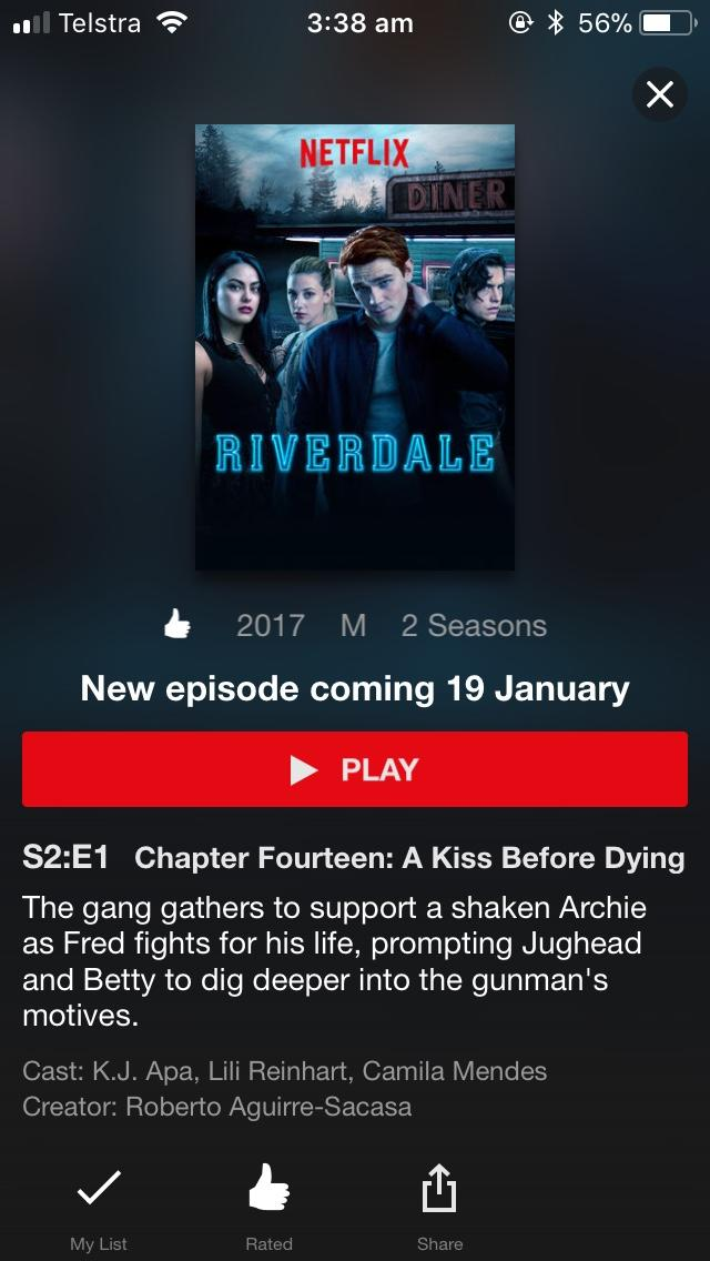 How many of you like the tv show Riverdale?