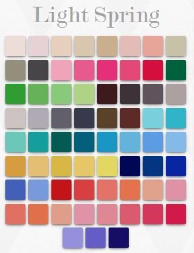 Do these colors look more like Light Spring colors or Light Summer colors?