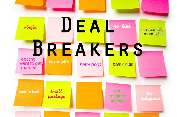 In dating preferences, what's your top three on the 'dealbreaker' list?