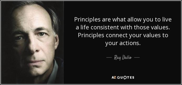 What principles do you live your life by?