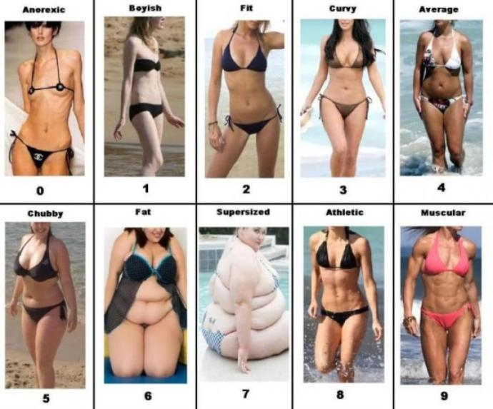 What is your ideal body type for a woman?