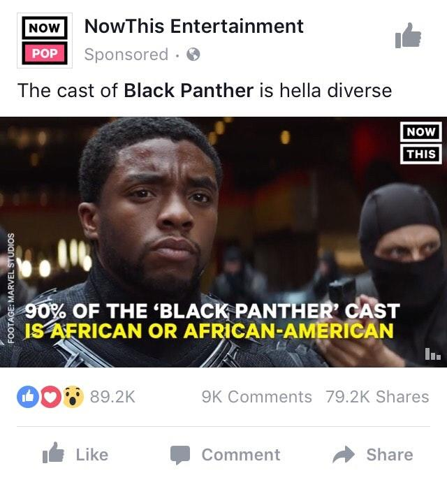Should Black Panther 2 be made more racially diverse with more white people?