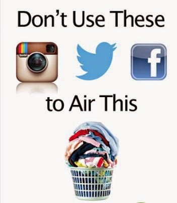 What are your thoughts on couples airing their dirty laundry on Social Media?