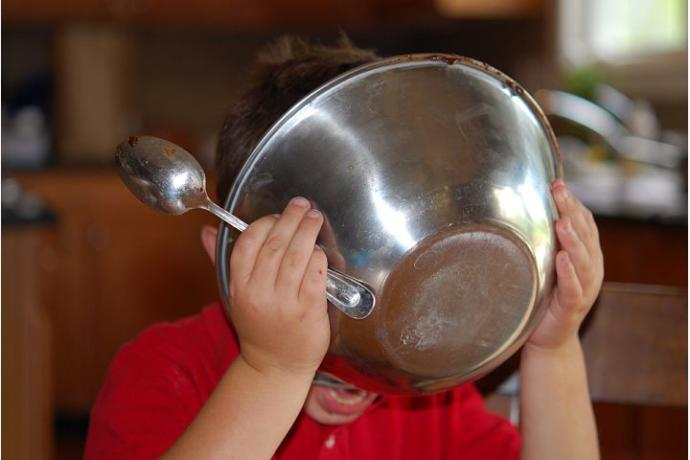 When you make a yummy cake. Do you revisit your childhood by licking the yummy ingredients from the bowl?