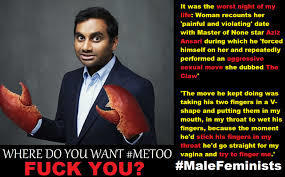 Would you like to be left alone with a sexual predator like Aziz Ansari ?