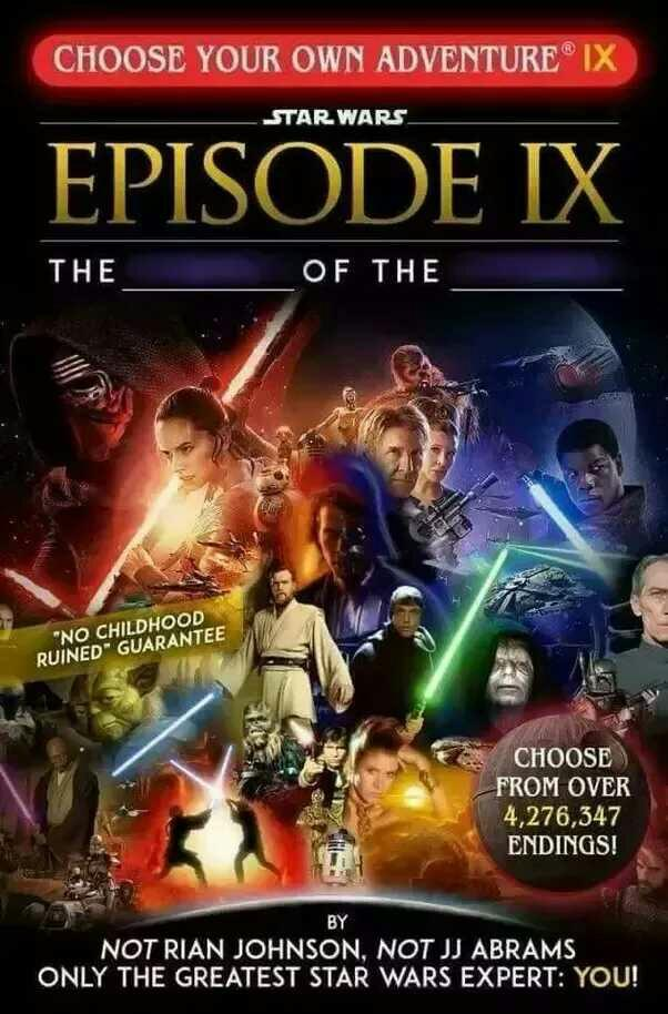 What are your predictions of Star Wars: Episode IX??