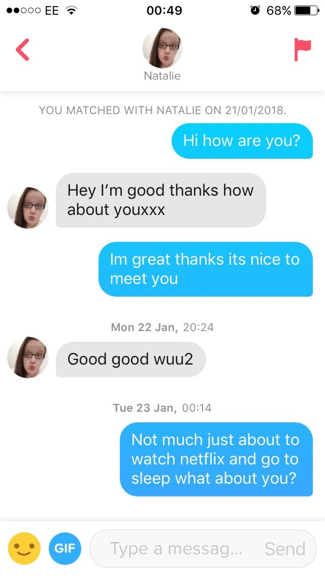 How do i get girls on tinder to have a conversation with me?