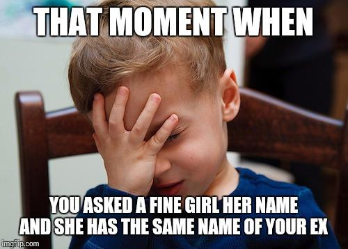 Would you date someone with the same name as your ex or previous crush?