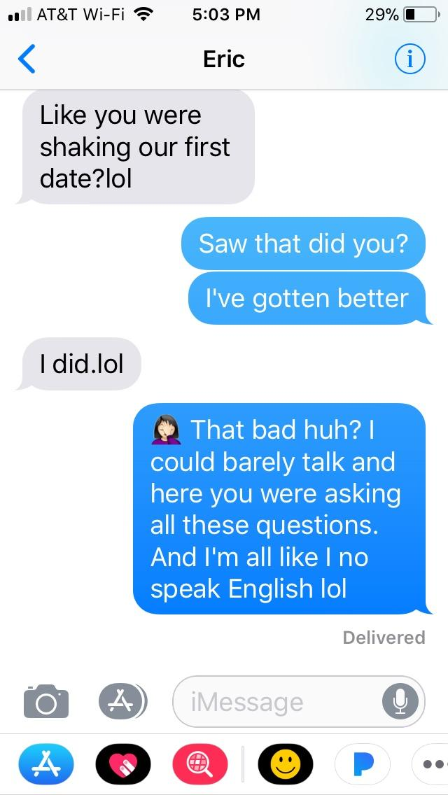 Have you ever decided there was not going to be a second date? Were you proven wrong or right? This is what Eric tells me after two months!!! 😳😋😂?