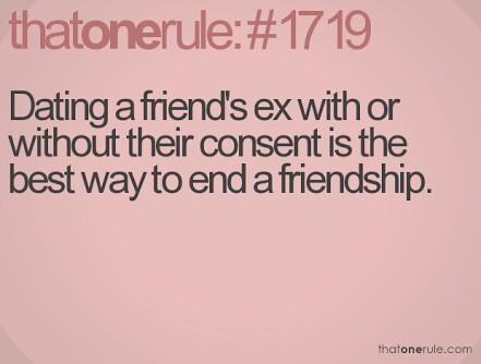 Is it ok to date a friend' s ex partner??