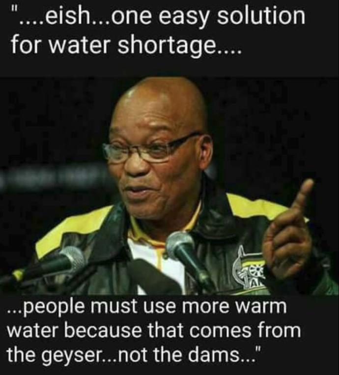 Why does South Africa have no water?