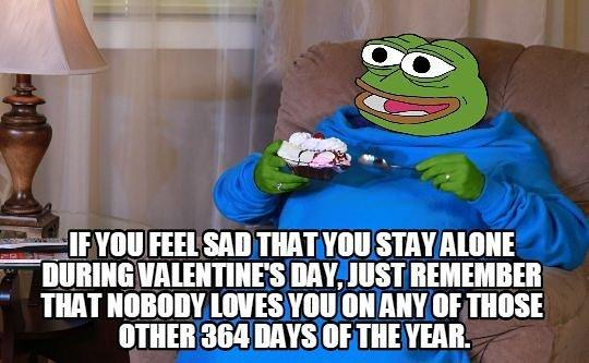 """What are you going to do when you are """"Single"""" on Valentine's day 🐸 !?"""