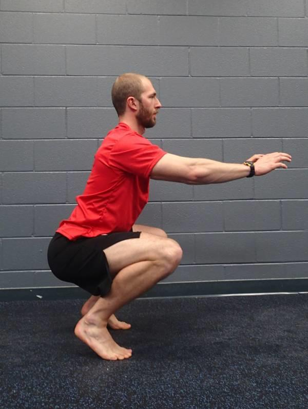 Can you squat 'ass to grass' with your heels on the ground?