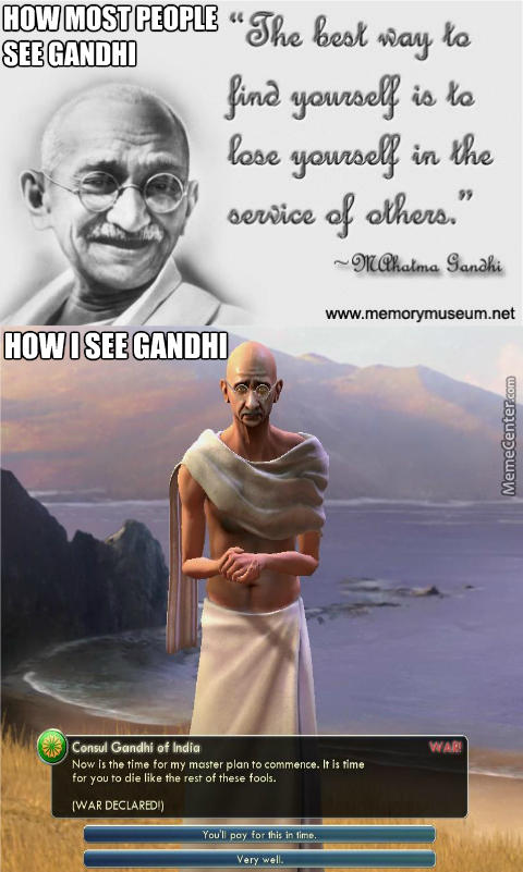 What would you do if you met Nuclear Gandhi?