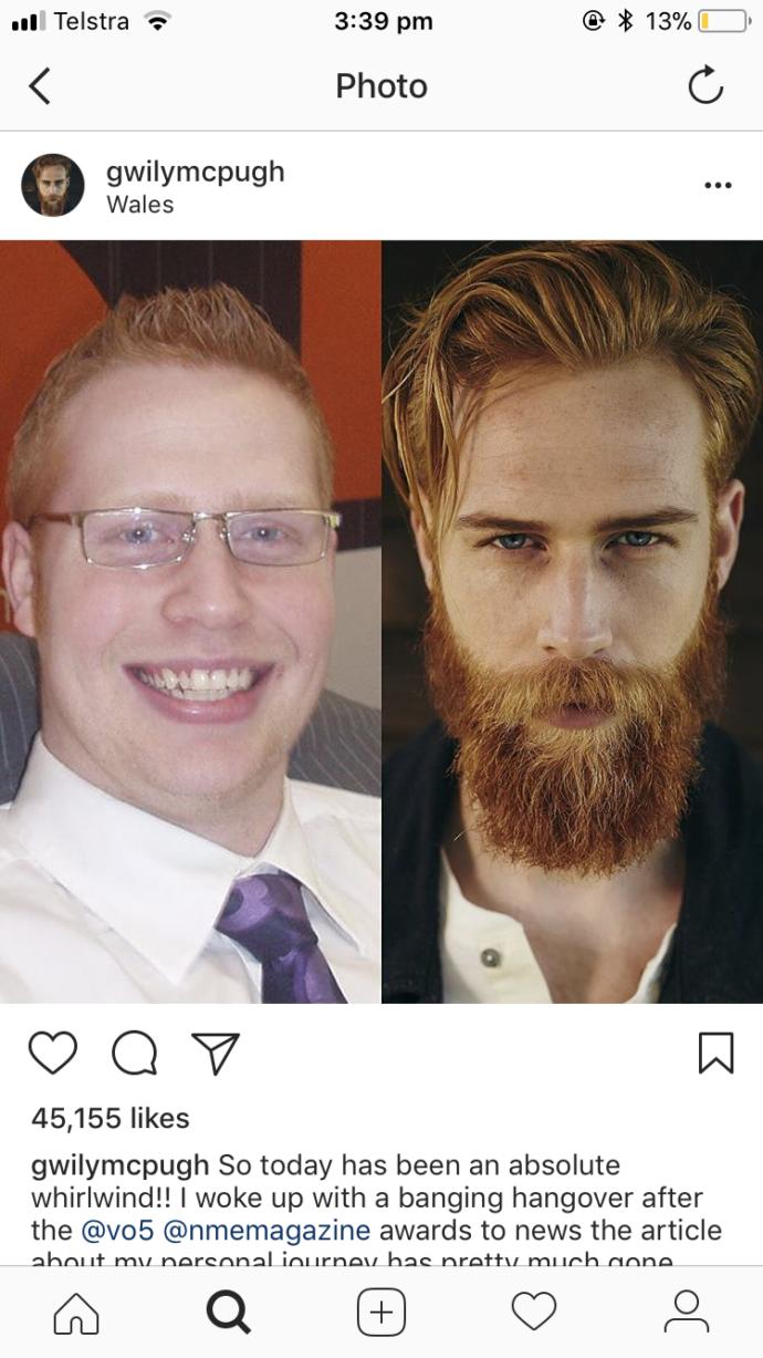 What a difference a beard and longer hair can make!?