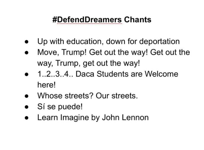 For those who go to my school, Huntington park high school near Florence graham in Los Angeles, are you going to the defend daca protest?