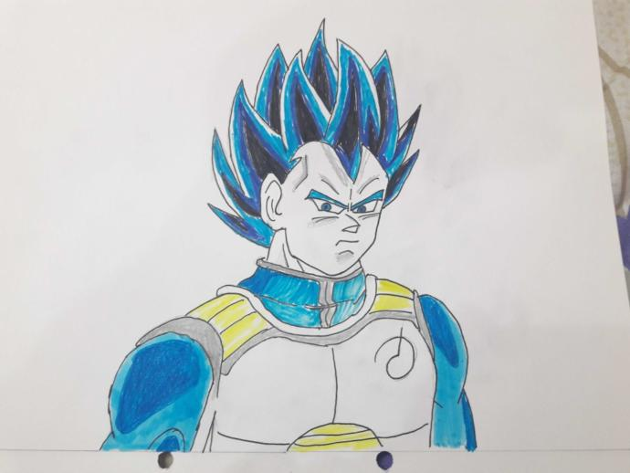 How does this art of The Saiyan prince look to you? Its ultra SSB .Did i do him justice? Also i added a short fun video for the vegeta fans out there.?