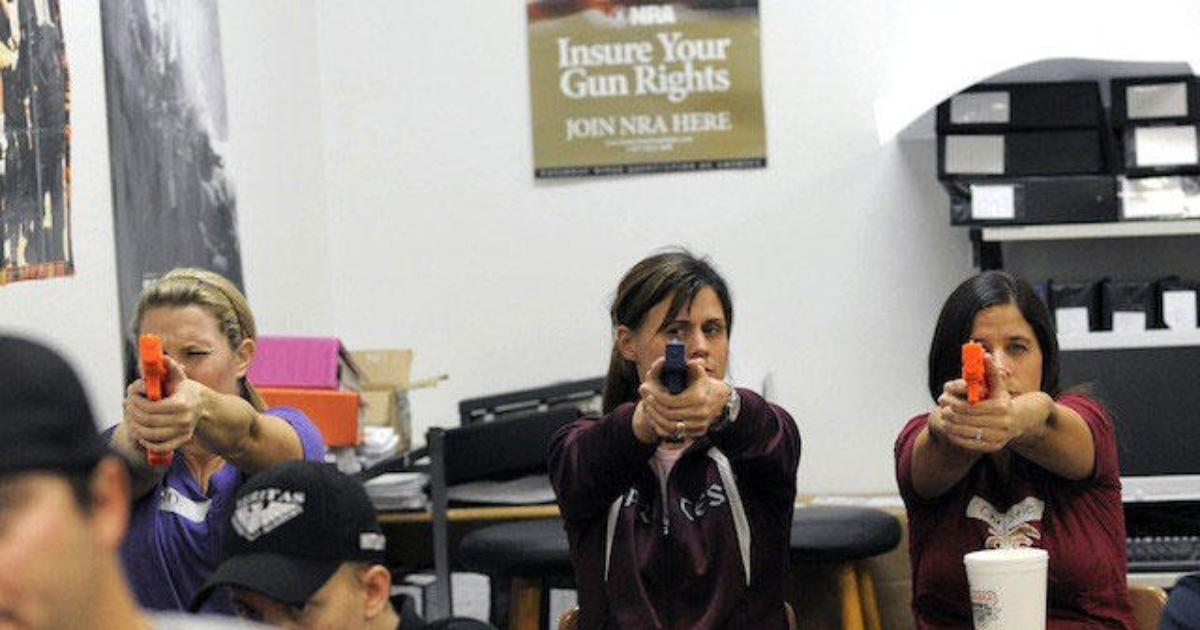why should teachers carry guns in Of course teachers should carry guns without the fire arms lots of people and children will be killed many schools have done it so why don't all schools they should be able to carry guns to defend their students if someone breaks in and starts attacking other people but they have to be able to own.
